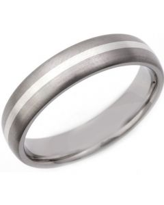 COI Titanium Center Line Dome Court Ring - JT1316