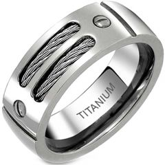 *COI Titanium Cable Ring With Screws  - JT2781