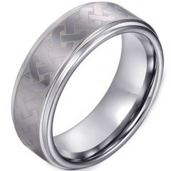 COI Titanium Celtic Step Edges Ring - JT3162