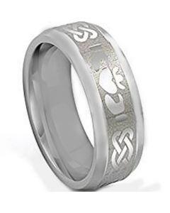 COI Titanium Mo Anam Cara Celtic Beveled Edges Ring - 3534