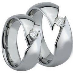 COI Titanium Solitaire Ring With Cubic Zirconia - JT3860