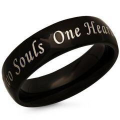 COI Black Titanium Two Souls One Heart Ring-JT5083