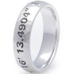 COI Titanium Custom Coordinate Dome Court Ring-JT5088