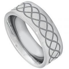 COI Titanium Celtic Pipe Cut Flat Ring-JT5089