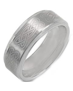 COI Titanium Celtic Step Edges Ring - 725