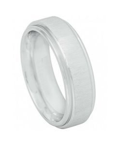 COI Titanium Step Edges Wedding Band Ring - JT3883