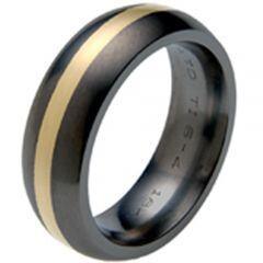 COI Two Tone Titanium Ring-2060(Size:US7)