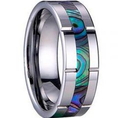 COI Titanium Ring With Shell - 2191(Size US10/12)