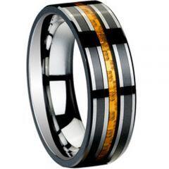 COI Titanium Ring With Carbon Fiber - 2192(Size US12)