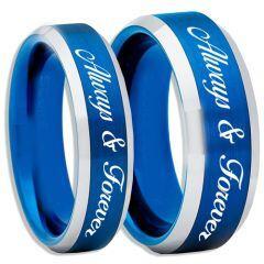 COI Titanium Blue Silver Always & Forever Ring-2263