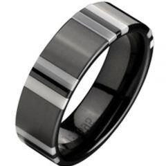 COI Titanium Ring With Ceramic - 2337(Size US7.5/10)