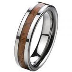 COI Titanium Ring With Wood - 2445(Size US9.5)