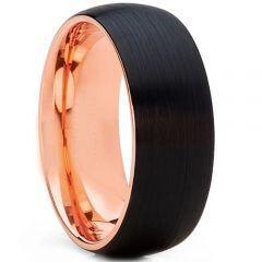 COI Titanium Black Rose Dome Court Ring - 2555