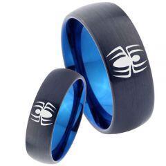 COI Titanium Black Blue Spiderman Dome Court Ring-2770