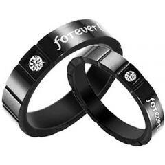 COI Black Titanium Ring - TG2820(Size US4.5)