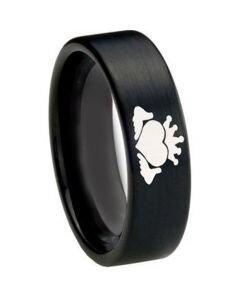COI Black Titanium Mo Anam Cara Pipe Cut Flat Ring - 3217