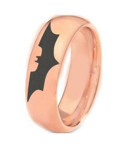 *COI Rose Titanium Batman Dome Court Ring - 3382