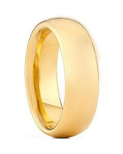 COI Gold Tone Titanium Dome Court Ring - JT4048
