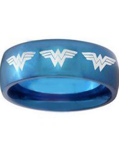 *COI Blue Titanium Batman Dome Court Ring-3685