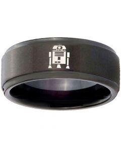 COI Black Titanium R2D2 Step Edges Ring - 3742