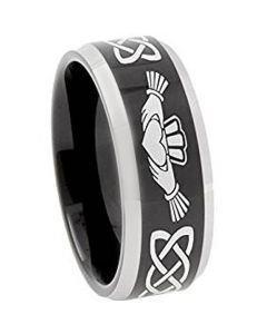 *COI Titanium Mo Anam Cara Celtic Beveled Edges Ring - 374AA