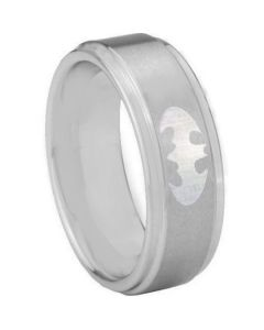 *COI Titanium Batman Step Edges Ring - 3890