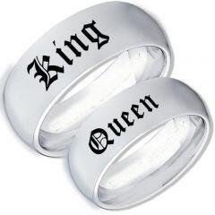 COI Titanium King Queen Dome Court Ring-3964