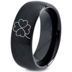 COI Black Titanium Clover Dome Court Ring - 4112