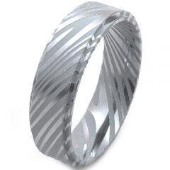 COI Titanium Damascus Step Edges Ring - 4187
