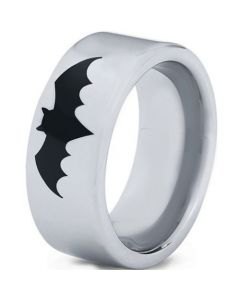 COI Titanium Batman Pipe Cut Flat Ring-5000
