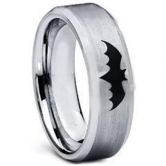 COI Titanium Batman Beveled Edges Ring - 5001