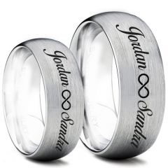 COI Titanium Infinity Ring With Custom Names Engraving-5005