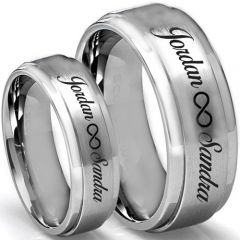 COI Titanium Infinity Ring With Custom Engraving-5015