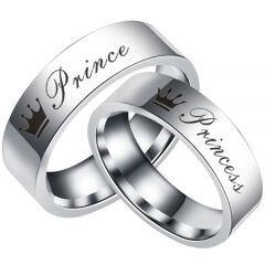 COI Titanium Prince Princess Crown Pipe Cut Flat Ring-5055
