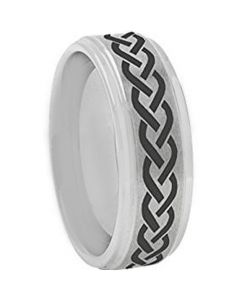 COI Titanium Celtic Step Edges Ring - 3199