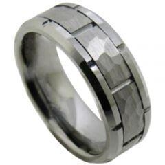 COI Titanium Tire Tread Brick Pattern Ring-5188