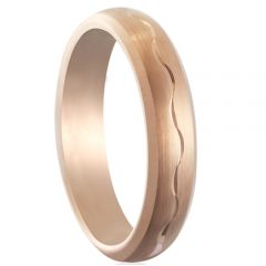 COI Rose Titanium Wedding Band Ring-5179