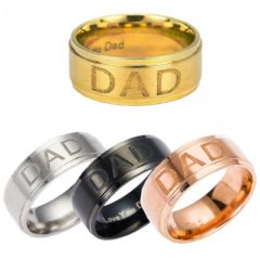 COI Titanium Daddy Step Edges Ring With Custom Engraving-5208