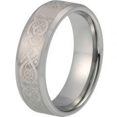 COI Titanium Dragon Beveled Edges Ring-5214
