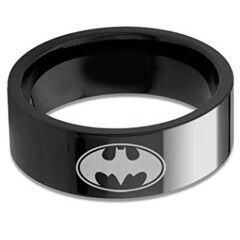 COI Black Titanium Batman Pipe Cut Flat Ring - 676