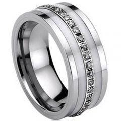 COI Titanium Eternity Ring - 713(Size:US5.5/7.5)