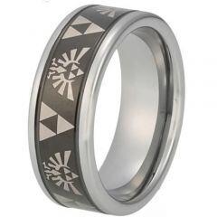 COI Titanium Legend of Zelda Beveled Edges Ring - 848