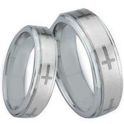*COI Titanium Cross Step Edges Ring - JT1473
