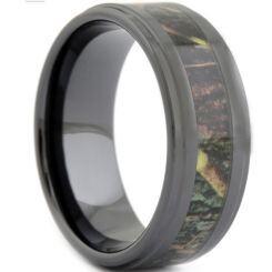 COI Black Titanium Camo Step Edges Ring-1807