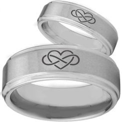 *COI Titanium Infinity Hearts Step Edges Ring - 2146