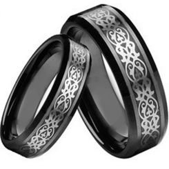 COI Black Titanium Ring - 2189(Size 88mm)