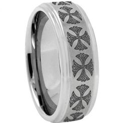 COI Titanium Cross Step Edges Ring - 2419