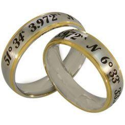 COI Titanium Gold Tone Silver Custom Coordinate Ring-2565