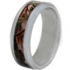 COI Titanium Camo Beveled Edges Ring - JT2679