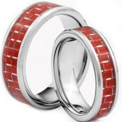 COI Titanium Beveled Edges Ring With Carbon Fiber - JT1446AA
